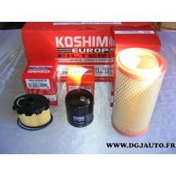 Pack filtre huile + carburant + air pour citroen berlingo xsara peugeot 306 partner 1.9D 1.9 D diesel