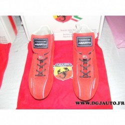 Paire de chaussure 59106105 taille 42 red rosso spitfire fiat ABARTH avec sac protection (ni repris ni echangé)