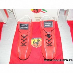Paire de chaussure 59106105 taille 43 red rosso spitfire fiat ABARTH avec sac protection (ni repris ni echangé)