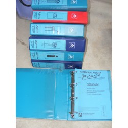 7 classeurs citroen xsara picasso info / info rapide / mecanique 1 et 2 / carosserie / electricite / electronique 8,7kg DOCUMENT