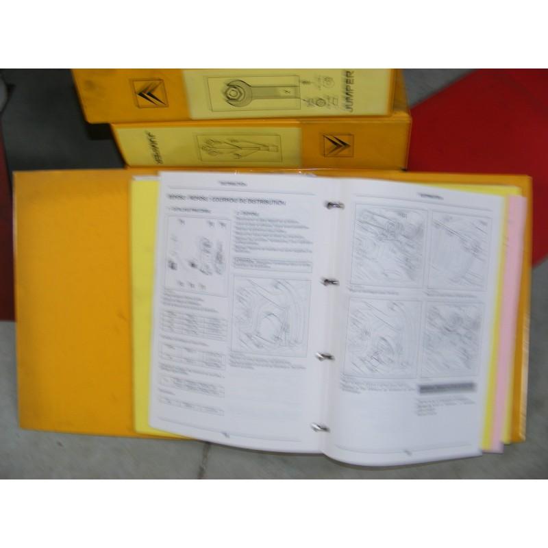 lot 6 classeurs fiche technique manuel atelier citroen jumper mecanique electricite carosserie. Black Bedroom Furniture Sets. Home Design Ideas