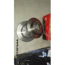 Paire de disque de frein arriere 255mm diametre plein audi A6 serie 2