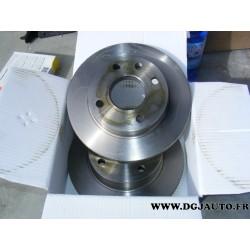 Paire de disque de frein ventilé 240mm de diametre pour ford escort 3 4 5 fiesta 2 orion 1 P100 sierra 1 et 2