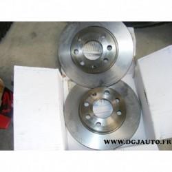 Paire de disque de frein pour opel corsa C phase 1 et 2 240mm diametre plein