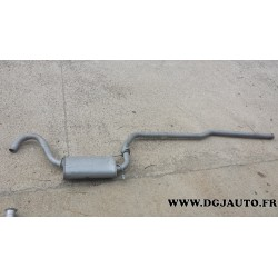 Silencieux echappement central pour ford escort 3 dont break 1,3 1,6