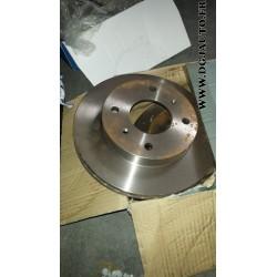 Paire de disques de frein ventilé diametre 242mm pour nissan primera P10
