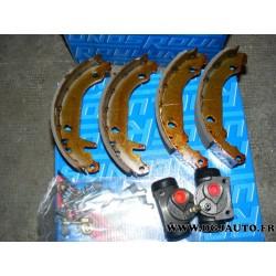 Machoires de frein tambours arriere montage bendix 180 x 40 pour renault 19 R19 dont chamade et cabriolet (sans cylindre)