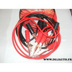 Jeu cable de démarrage batterie dépannage 300Amp longueur 3 mètres idéal essence