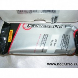 Valve intelligente indication pression insuffisante pneu K-PRESSURE pirelli 2.2 BAR 32 PSI