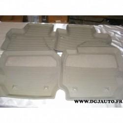 Jeux 4 tapis de sol 2X1X caoutchouc lavable pour volvo V60 S60 a partir de 2011 S80 partir 2007