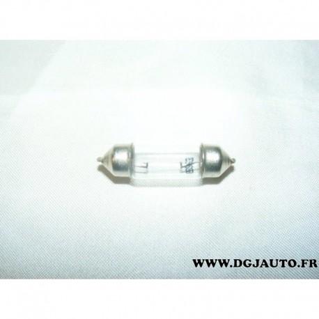 Lot 9 ampoules navette 5 watts pour lampe eclairage interieur plafonnier feu gabarit remorque