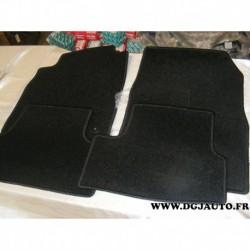 Jeux de 4 tapis de sol noir pour chevrolet cruze