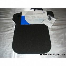 Jeux 2 tapis de sol arriere velour noir pour volkswagen polo à partir de 2001