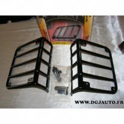 Paire de grille protection feux arriere 1122602 pour jeep wrangler partir 2007