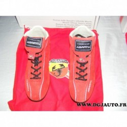 Paire de chaussure 59106105 taille 37 red rosso spitfire fiat ABARTH avec sac protection (ni repris ni echangé)