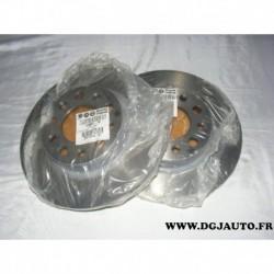 Paire de disque de frein plein 278mm diametre 51964082 pour alfa romeo 159 giulietta brera spider jeep renegade
