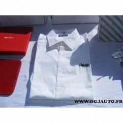 Chemise blanche logo jeep taille M 6001099321 original (ni repris ni échangé)