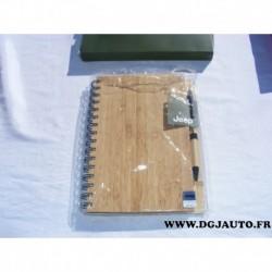 Carnet de note bloc note avec stilo jeep style bois 6001099342 original