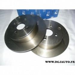 Paire de disque de frein arriere plein 279mm diametre RDP219 pour toyota corolla 120