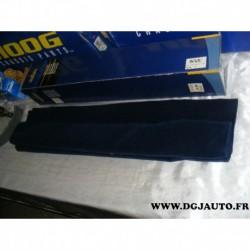 Tapis de coffre moquette velour bleu nuit 140x75cm adaptable 7001.29
