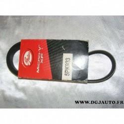 Courroie accessoire 5PK933 pour fiat punto 1 TD honda accord legend insight nissan 200SX 200 SX serena toyota yaris