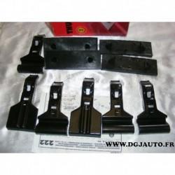 Kit pieds fixation barre de toit KIT222 pour fiat punto 1 3 portes lancia kappa 4 portes