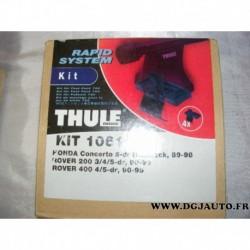 Kit pieds fixation barre de toit KIT1061 pour honda concerto 5 portes hatchback de 89 à 98 rover serie 200 400 de 90 à 95
