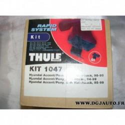 Kit pieds fixation barre de toit KIT1047 pour hyundai accent pony de 1994 à 1999