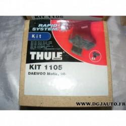Kit pieds fixation barre de toit KIT1105 pour daewoo matiz partir 1998