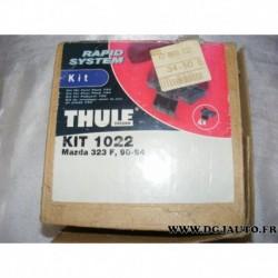 Kit pieds fixation barre de toit KIT1022 pour mazda 323 F de 1990 à 1994