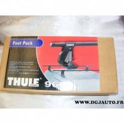 Kit 4 pieds de fixation accessoire thule 960 pour barre de toit sans gouttieres
