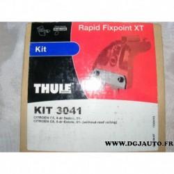 Kit pieds fixation barre de toit KIT3041 pour citroen C5 partir 2001