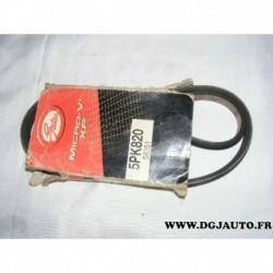 Courroie accessoire 5PK820 pour mazda RX8 toyota liteace celica corolla 90 MR2 modele F daihatsu rocky fourtrak