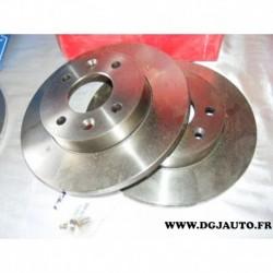 Paire disque de frein plein 238mm diametre 08295814 pour renault 9 11 19 21 R9 R11 R19 R21 clio 1 2 express megane super 5 symbo