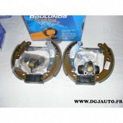 Kit frein arriere prémonté 180x30mm montage bosch 685531 pour peugeot 206 206+