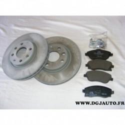 Pack freinage avant paire disque 260mm ventilé 9196050 + 4 plaquettes de frein montage lucas 93176114 pour opel corsa C meriva A