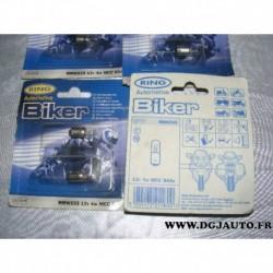 Boite 2 ampoules bulbe 12V 4W MCC BA9S RMW233 pour moto phare feux