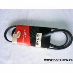 Courroie accessoire 4PK1770 pour toyota yaris 1.0 dont 16V construction France et japon