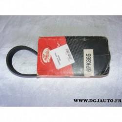 Courroie accessoire 6PK865 pour citroen berlingo jumpy xsara fiat scudo peugeot 206 306 expert partner 1.9D 1.9 D