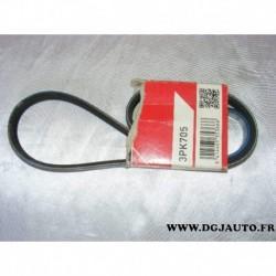 Courroie accessoire 3PK705 pour renault 19 clio 1 R19 megane dont scenic 1.4 essence
