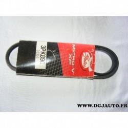 Courroie accessoire 3PK890 pour chevrolet lumina honda logo lexus IS renault safrane