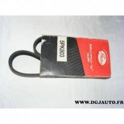 Courroie accessoire 5PK803 pour citroen berlingo ZX peugeot 306 partner 1.1 1.4 1.6