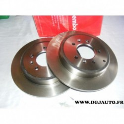 Paire disque de frein arriere plein 290mm diametre 08534420 pour peugeot 605