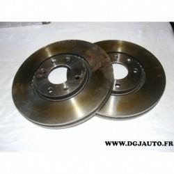 Paire disque de frein avant 289mm diametre ventilé NDF4753 pour citroen C5 xantia