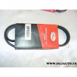 Courroie accessoire 6PK865 pour citroen berlingo jumpy xsara fiat scudo peugeot 206 306 expert partner 1.9D 1.9 D diesel