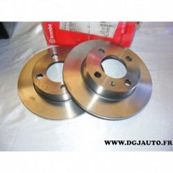 Paire de disque de frein arriere plein 232mm diametre 08716520 pour seat arosa cordoba 3 ibiza 3 volkswagen lupo polo 3