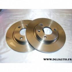 Paire de disque de frein 3 trous avant plein 247mm diametre 08558310 pour citroen AX