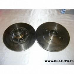 Paire de disque de frein arriere plein 238mm diametre 0986478557 pour renault 19 R19 clio 2 megane 1