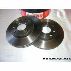 Paire de disque de frein avant ventilé 236mm diametre BD1440 pour opel ascona C astra F combo corsa A B kadett D E vectra A daew