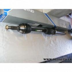 Cardan transmission avant droit 23/25 cannelures 5275 pour ford fiesta 5 fusion 1.4TDCI 1.4 TDCI